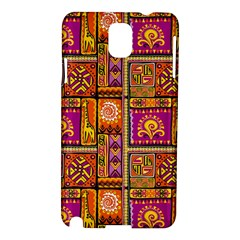 Traditional Africa Border Wallpaper Pattern Colored 3 Samsung Galaxy Note 3 N9005 Hardshell Case