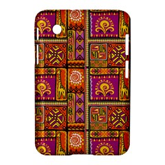 Traditional Africa Border Wallpaper Pattern Colored 3 Samsung Galaxy Tab 2 (7 ) P3100 Hardshell Case