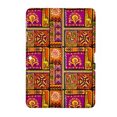 Traditional Africa Border Wallpaper Pattern Colored 3 Samsung Galaxy Tab 2 (10 1 ) P5100 Hardshell Case