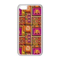 Traditional Africa Border Wallpaper Pattern Colored 3 Apple Iphone 5c Seamless Case (white)