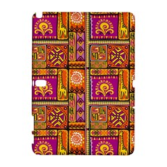 Traditional Africa Border Wallpaper Pattern Colored 3 Samsung Galaxy Note 10 1 (p600) Hardshell Case
