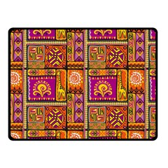 Traditional Africa Border Wallpaper Pattern Colored 3 Double Sided Fleece Blanket (small)