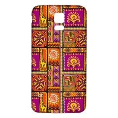 Traditional Africa Border Wallpaper Pattern Colored 3 Samsung Galaxy S5 Back Case (white)