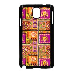 Traditional Africa Border Wallpaper Pattern Colored 3 Samsung Galaxy Note 3 Neo Hardshell Case (black)