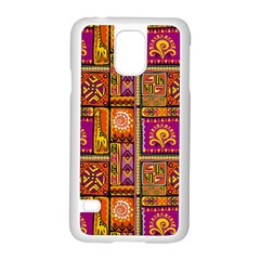 Traditional Africa Border Wallpaper Pattern Colored 3 Samsung Galaxy S5 Case (white)
