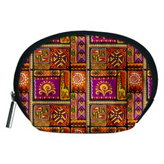 Traditional Africa Border Wallpaper Pattern Colored 3 Accessory Pouches (medium)
