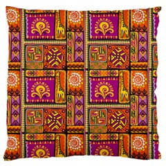 Traditional Africa Border Wallpaper Pattern Colored 3 Large Flano Cushion Case (two Sides)
