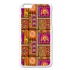 Traditional Africa Border Wallpaper Pattern Colored 3 Apple Iphone 6 Plus/6s Plus Enamel White Case