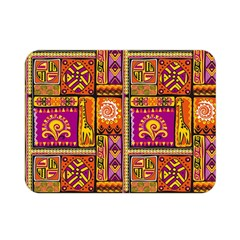Traditional Africa Border Wallpaper Pattern Colored 3 Double Sided Flano Blanket (mini)