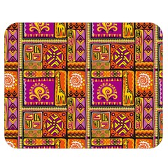 Traditional Africa Border Wallpaper Pattern Colored 3 Double Sided Flano Blanket (medium)