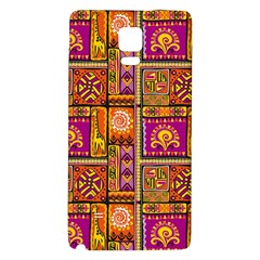 Traditional Africa Border Wallpaper Pattern Colored 3 Samsung Note 4 Hardshell Back Case