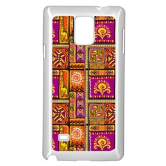Traditional Africa Border Wallpaper Pattern Colored 3 Samsung Galaxy Note 4 Case (white)