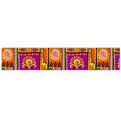 Traditional Africa Border Wallpaper Pattern Colored 3 Large Flano Scarf