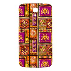 Traditional Africa Border Wallpaper Pattern Colored 3 Samsung Galaxy Mega I9200 Hardshell Back Case