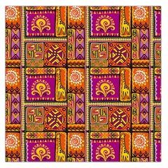 Traditional Africa Border Wallpaper Pattern Colored 3 Large Satin Scarf (square)