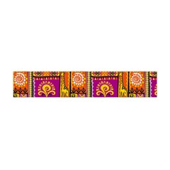 Traditional Africa Border Wallpaper Pattern Colored 3 Flano Scarf (mini)