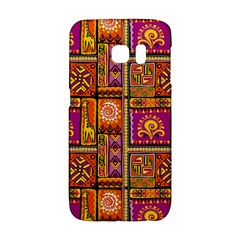 Traditional Africa Border Wallpaper Pattern Colored 3 Samsung Galaxy S6 Edge Hardshell Case