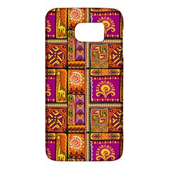 Traditional Africa Border Wallpaper Pattern Colored 3 Samsung Galaxy S6 Hardshell Case