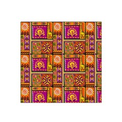 Traditional Africa Border Wallpaper Pattern Colored 3 Satin Bandana Scarf