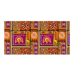 Traditional Africa Border Wallpaper Pattern Colored 3 Satin Wrap