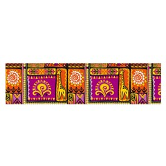 Traditional Africa Border Wallpaper Pattern Colored 3 Satin Scarf (oblong)