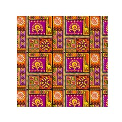 Traditional Africa Border Wallpaper Pattern Colored 3 Small Satin Scarf (square)