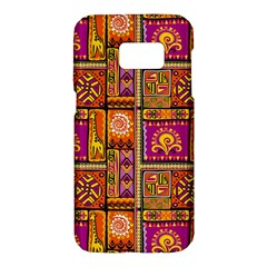 Traditional Africa Border Wallpaper Pattern Colored 3 Samsung Galaxy S7 Hardshell Case