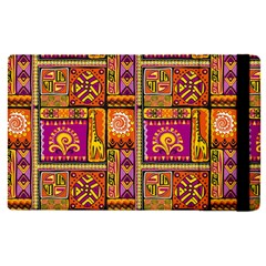 Traditional Africa Border Wallpaper Pattern Colored 3 Apple Ipad Pro 9 7   Flip Case