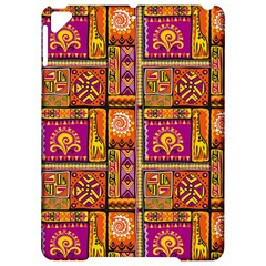 Traditional Africa Border Wallpaper Pattern Colored 3 Apple Ipad Pro 9 7   Hardshell Case