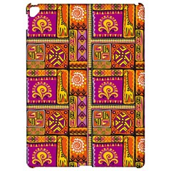 Traditional Africa Border Wallpaper Pattern Colored 3 Apple Ipad Pro 12 9   Hardshell Case