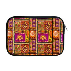 Traditional Africa Border Wallpaper Pattern Colored 3 Apple Macbook Pro 17  Zipper Case