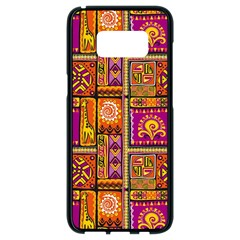 Traditional Africa Border Wallpaper Pattern Colored 3 Samsung Galaxy S8 Black Seamless Case