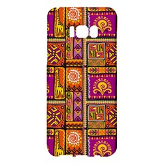 Traditional Africa Border Wallpaper Pattern Colored 3 Samsung Galaxy S8 Plus Hardshell Case