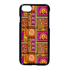 Traditional Africa Border Wallpaper Pattern Colored 3 Apple Iphone 8 Seamless Case (black)