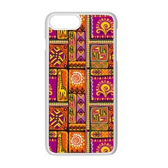Traditional Africa Border Wallpaper Pattern Colored 3 Apple Iphone 8 Plus Seamless Case (white)