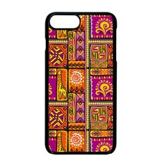Traditional Africa Border Wallpaper Pattern Colored 3 Apple Iphone 8 Plus Seamless Case (black)