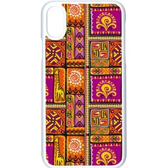 Traditional Africa Border Wallpaper Pattern Colored 3 Apple Iphone X Seamless Case (white)
