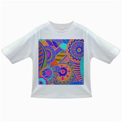 Pop Art Paisley Flowers Ornaments Multicolored 3 Infant/toddler T Shirts