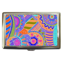 Pop Art Paisley Flowers Ornaments Multicolored 3 Cigarette Money Cases