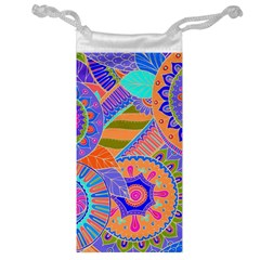 Pop Art Paisley Flowers Ornaments Multicolored 3 Jewelry Bags