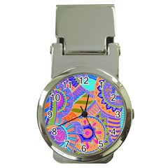Pop Art Paisley Flowers Ornaments Multicolored 3 Money Clip Watches by EDDArt
