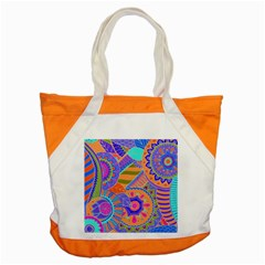 Pop Art Paisley Flowers Ornaments Multicolored 3 Accent Tote Bag