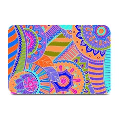 Pop Art Paisley Flowers Ornaments Multicolored 3 Plate Mats