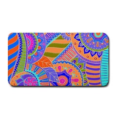 Pop Art Paisley Flowers Ornaments Multicolored 3 Medium Bar Mats