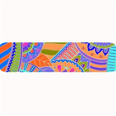 Pop Art Paisley Flowers Ornaments Multicolored 3 Large Bar Mats