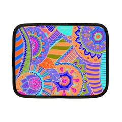Pop Art Paisley Flowers Ornaments Multicolored 3 Netbook Case (small)