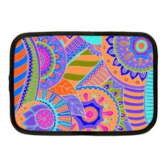 Pop Art Paisley Flowers Ornaments Multicolored 3 Netbook Case (medium)