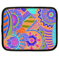 Pop Art Paisley Flowers Ornaments Multicolored 3 Netbook Case (large)