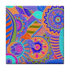 Pop Art Paisley Flowers Ornaments Multicolored 3 Face Towel
