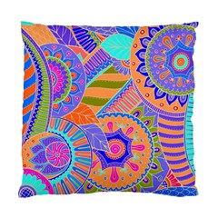 Pop Art Paisley Flowers Ornaments Multicolored 3 Standard Cushion Case (two Sides)